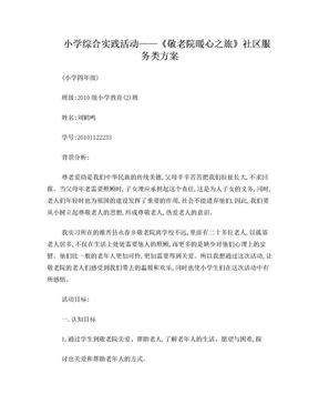 小学综合实践活动设计方案.doc