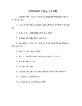 支部换届改选党员大会议程.doc