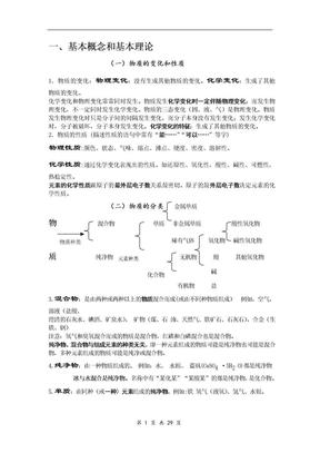 中考化学总复习基础知识详细总结.doc