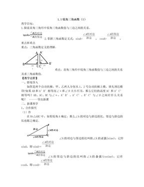 浙教版初中数学教案九年级下.doc