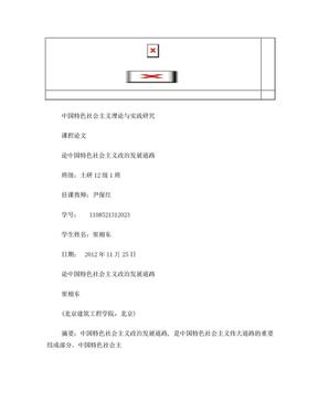 论中国特色社会主义政治发展道路.doc