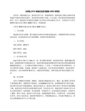 大学生2016年旅行社实习报告3000字范文.docx