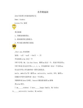 小升初冠词.doc