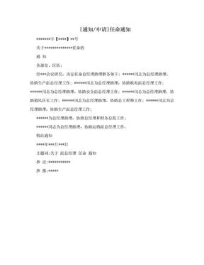 [通知/申请]任命通知.doc