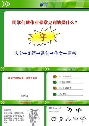 中国汉字的起源、演变及分类.ppt