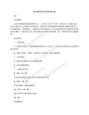 幼儿园中班元宵节活动方案.docx