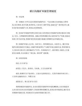 煤矿环保管理制度.doc