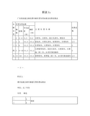 广东省高速公路收费车辆车型分类标准及收费系数表.doc