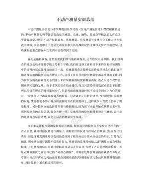 不动产测量实训总结.doc