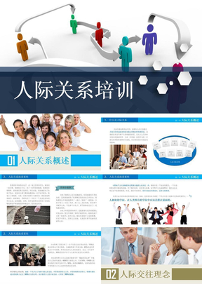 企業人際關系培訓ppt模版
