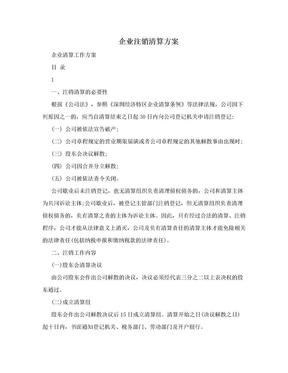 企业注销清算方案.doc