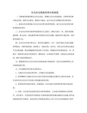 社会治安维稳形势分析制度.doc