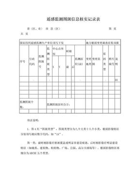 遥感监测图斑信息核实记录表.doc