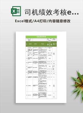 司机绩效考核excel表格模板.xlsx