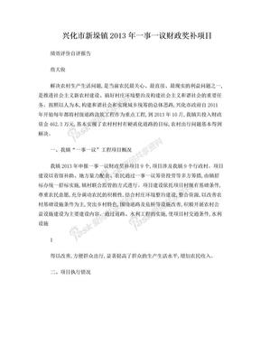 新垛一事一议财政支出绩效评价报告.doc