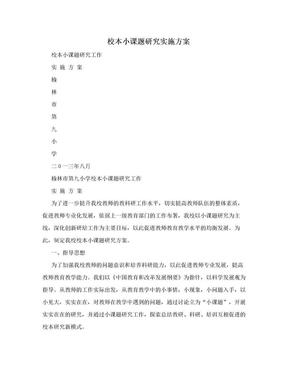 校本小课题研究实施方案.doc