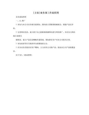 [方案]业务部工作流程图.doc