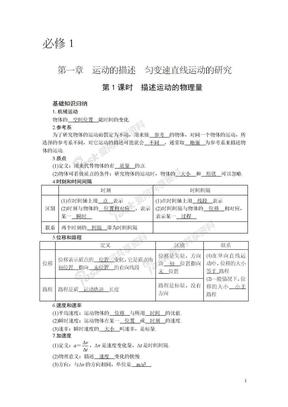 2011届一轮复习教案第1章直线运动.doc