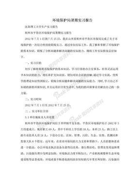 环境保护局暑期实习报告.doc