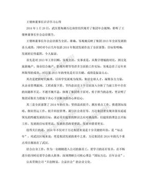 王健林董事长讲话学习心得.doc