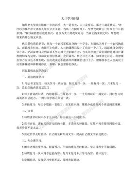 大三学习计划.docx