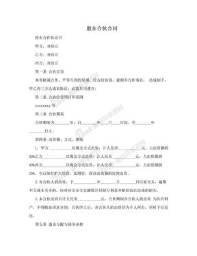 股东合伙合同.doc