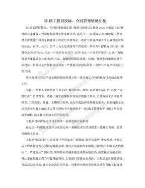 XX镇工程招投标、合同管理情况汇报.doc