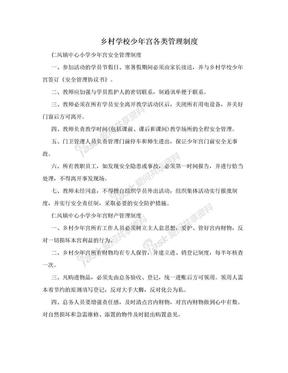 乡村学校少年宫各类管理制度.doc