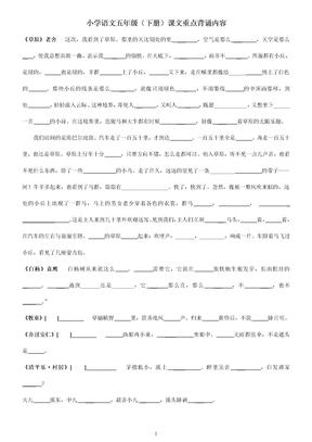 小学语文五年级(下册)课文重点填空.doc