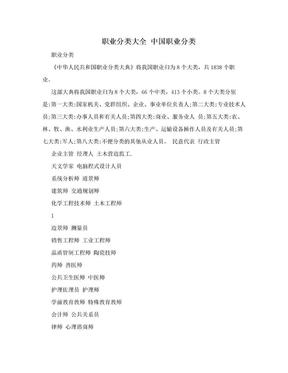 职业分类大全 中国职业分类.doc