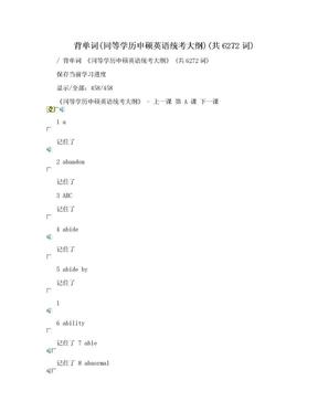 背单词(同等学历申硕英语统考大纲)(共6272词).doc