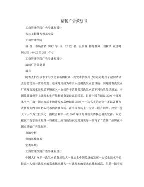 清扬广告策划书.doc