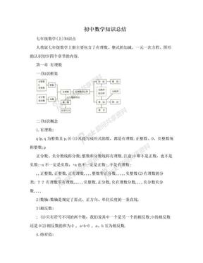 初中数学知识总结.doc