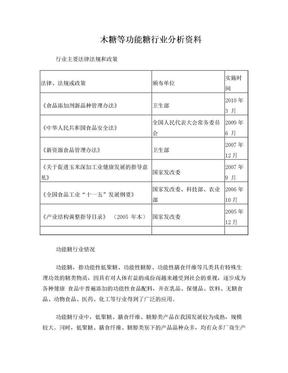 木糖等功能糖行业分析资料.doc