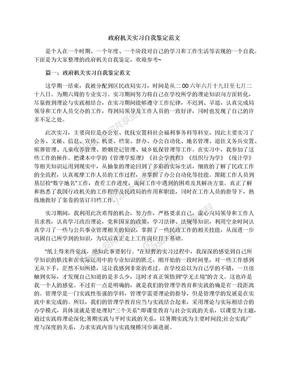 政府机关实习自我鉴定范文.docx