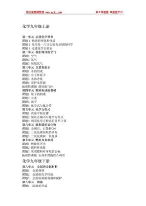 初高中化学课本目录(新).doc