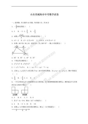 2019-2020年最新山东省威海市中考数学仿真模拟试卷及答案解析.doc