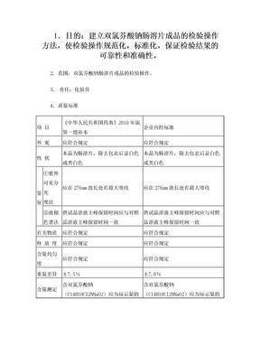 双氯芬酸钠肠溶片检验操作规程.doc