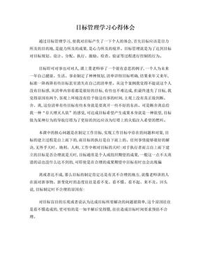 目标管理学习体会.doc