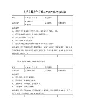 乡村少年宫科技兴趣小组活动记录_-.doc