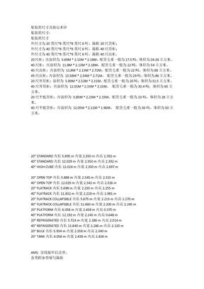 集装箱尺寸及海运术语.doc