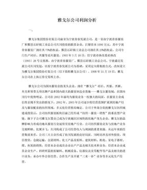 雅戈尔公司财务案例分析.doc