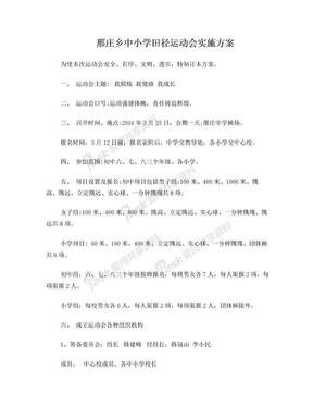 中小学田径运动会实施方案.doc