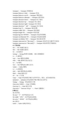 html标签属性大全.doc