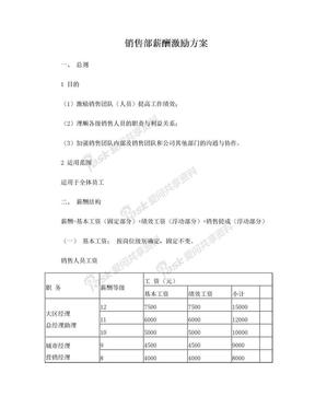 销售部薪酬激励方案.doc