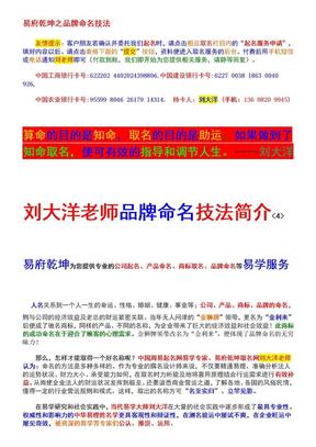 易府乾坤之品牌命名技法!.doc