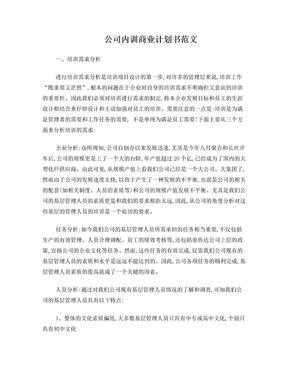 公司内训商业计划书范文.doc