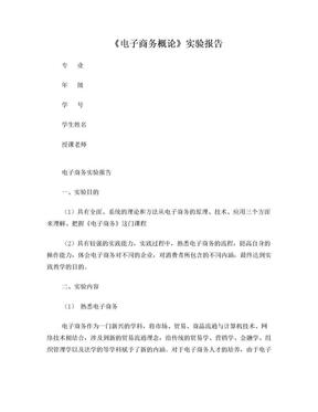 浙科电子商务实验报告.doc