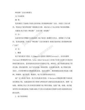 电子商务网站推广方案.doc