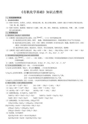 高中有机化学基础知识点整理.doc